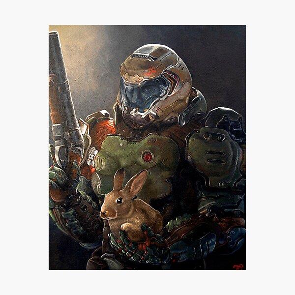 Doom Slayer avec lapin Impression photo