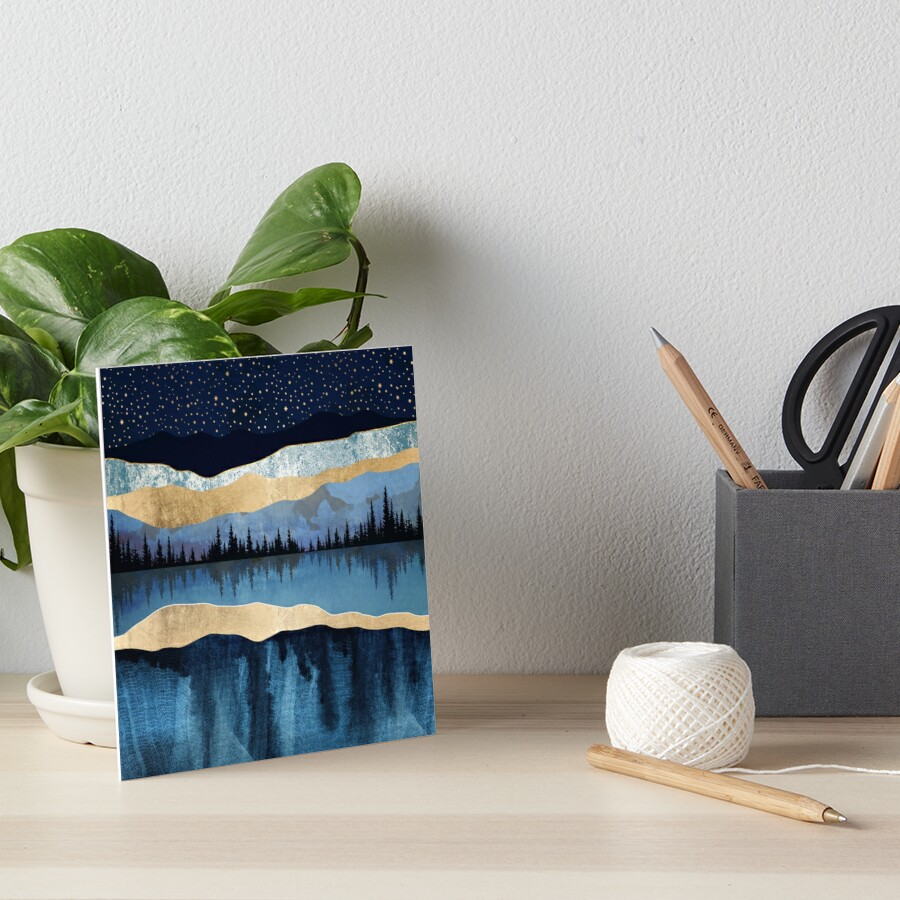Midnight Lake Art Board Print
