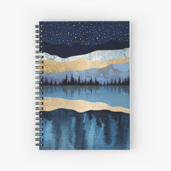 Midnight Lake Spiral Notebook
