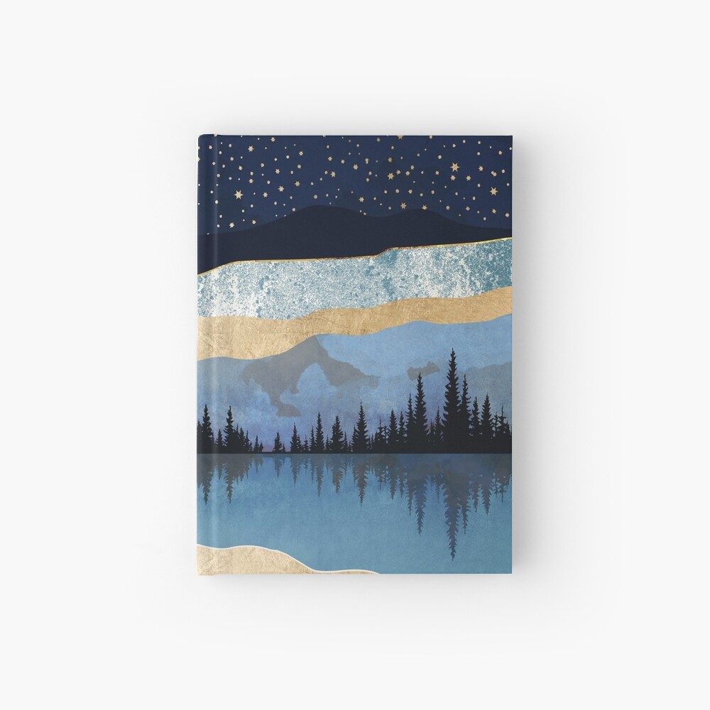 Midnight Lake Hardcover Journal