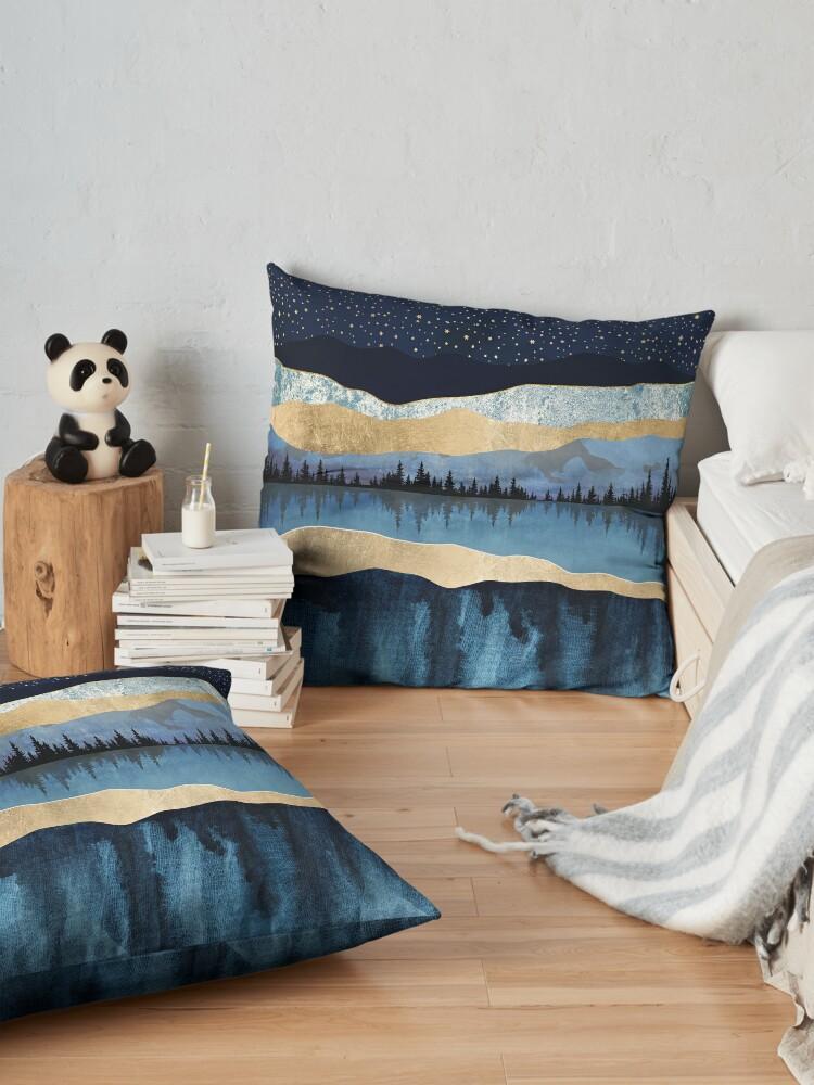Alternate view of Midnight Lake Floor Pillow