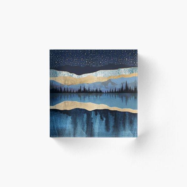 Midnight Lake Acrylic Block