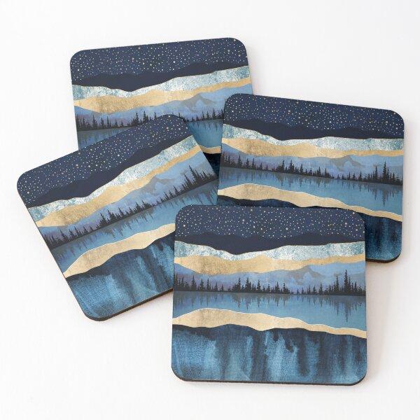 Midnight Lake Coasters (Set of 4)