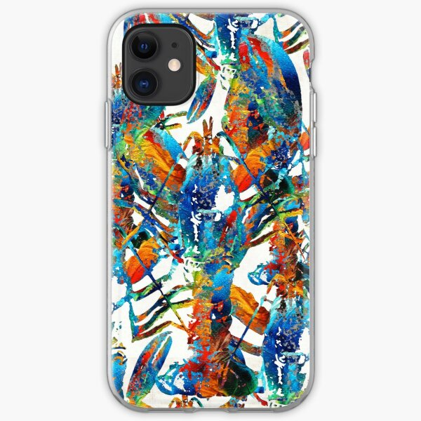 Colorful Lobster Collage Art - Sharon Cummings iPhone Soft Case
