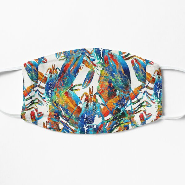Colorful Lobster Collage Art - Sharon Cummings Mask