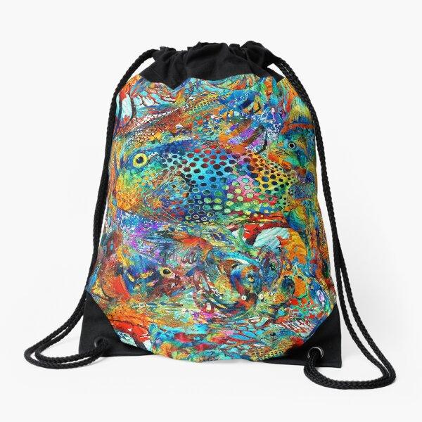 Tropical Beach Art - Under The Sea - Sharon Cummings Drawstring Bag