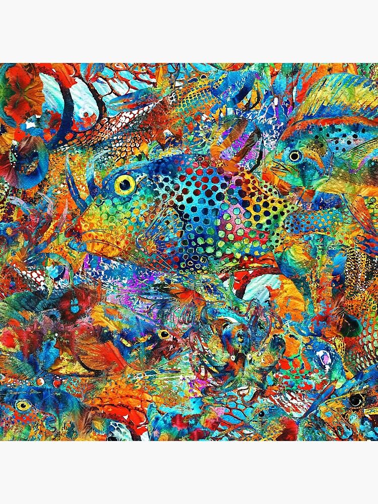Tropical Beach Art - Under The Sea - Sharon Cummings by SharonCummings