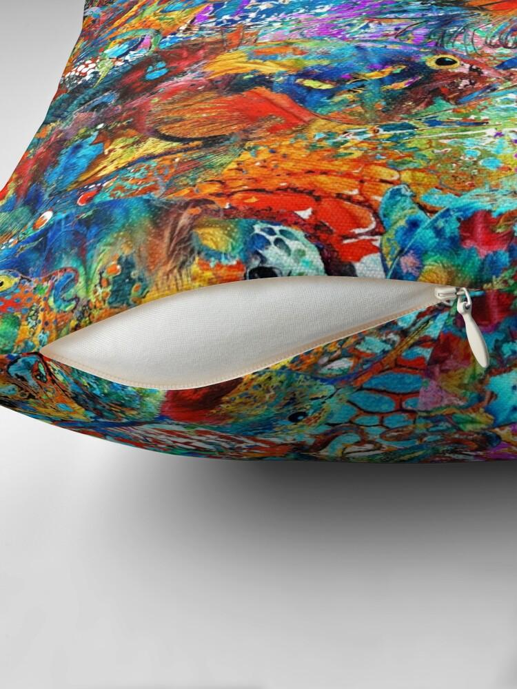 Alternate view of Tropical Beach Art - Under The Sea - Sharon Cummings Throw Pillow