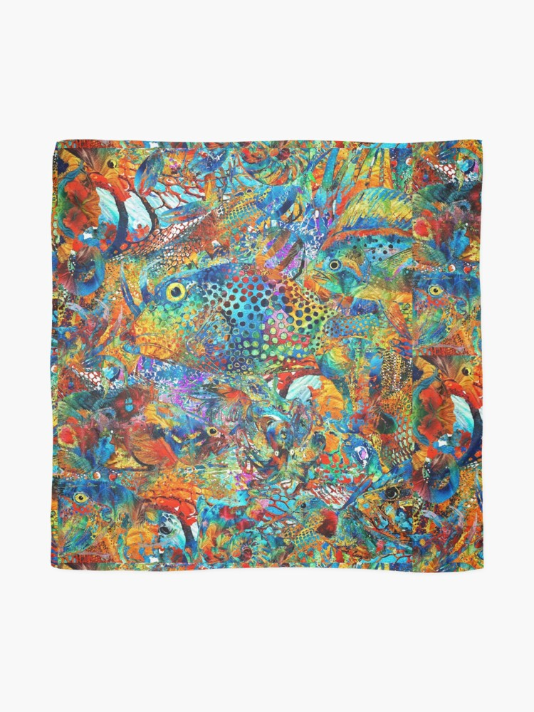 Alternate view of Tropical Beach Art - Under The Sea - Sharon Cummings Scarf