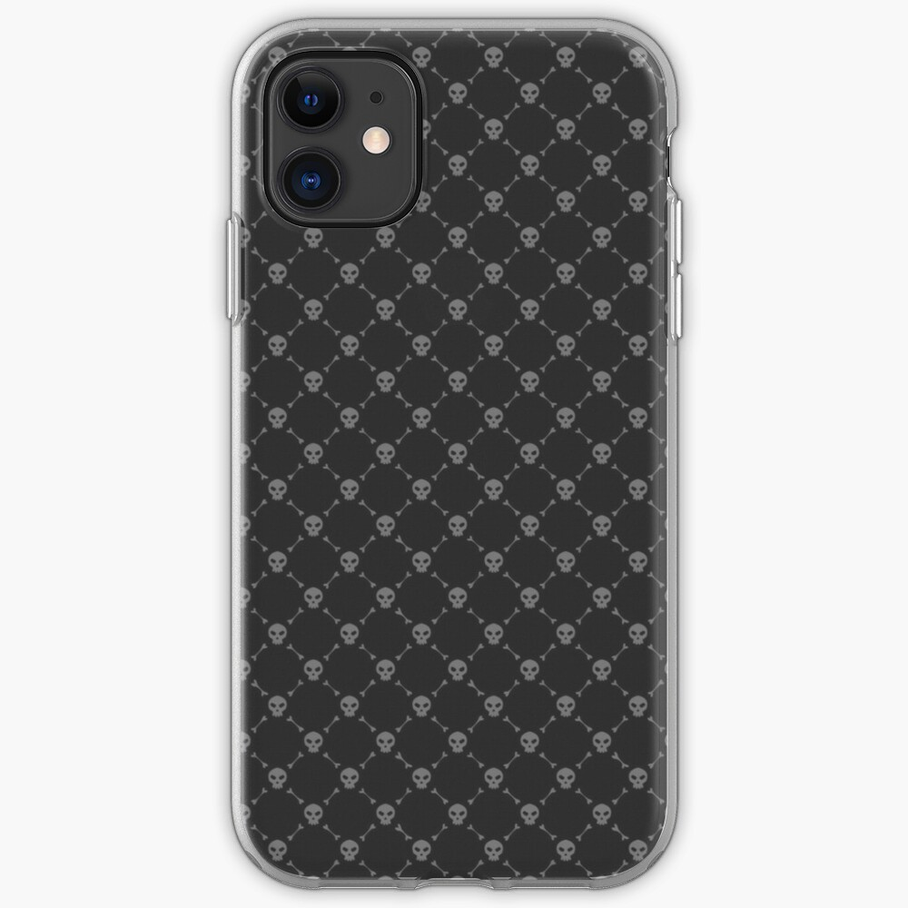 Dark Repetitive Skull And Bones Wallpaper Pattern Iphone Case Cover By Dator Redbubble