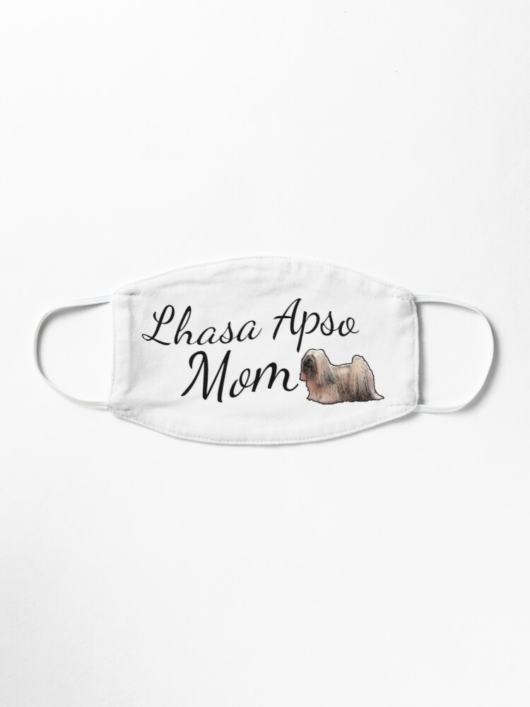 Alternate view of Lhasa Apso Mom Mask