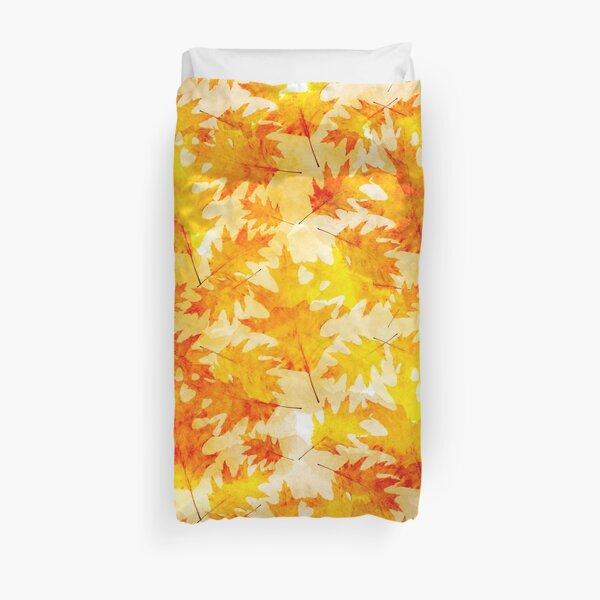 Oak Leaves Pattern Duvet Cover