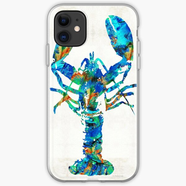 Blue Lobster Art by Sharon Cummings iPhone Soft Case