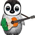Baby Penguin Playing Irish Flag Guitar von jeff bartels