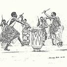 African Tribal Drummers by tqueen