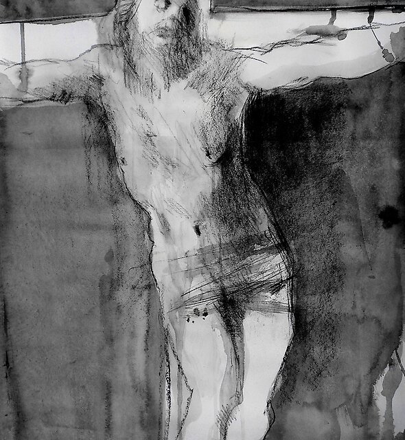 crucifix study by Loui  Jover
