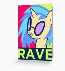 RAVE Greeting Card