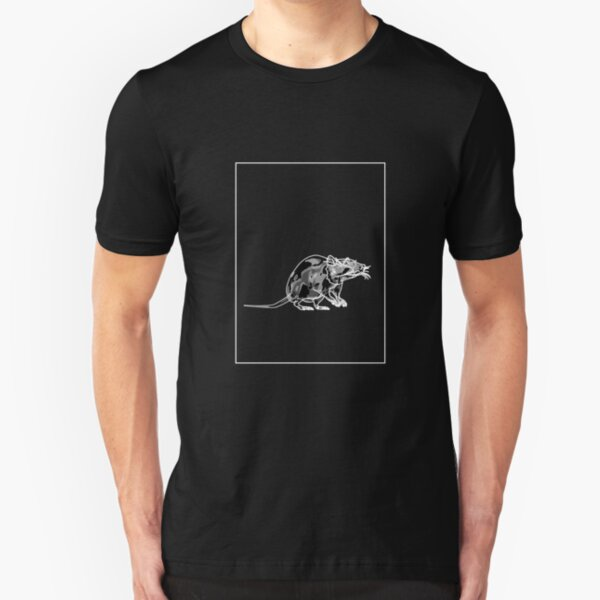 Rat Black Grey A Slim Fit T-Shirt