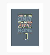 RUNAWAY ART  Photographic Print