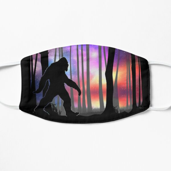 Bigfoot Northern Lights - Colorful Galaxy Aurora Cryptid Gift Mask