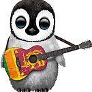 Baby Penguin Playing Sri Lanka Flag Guitar von jeff bartels
