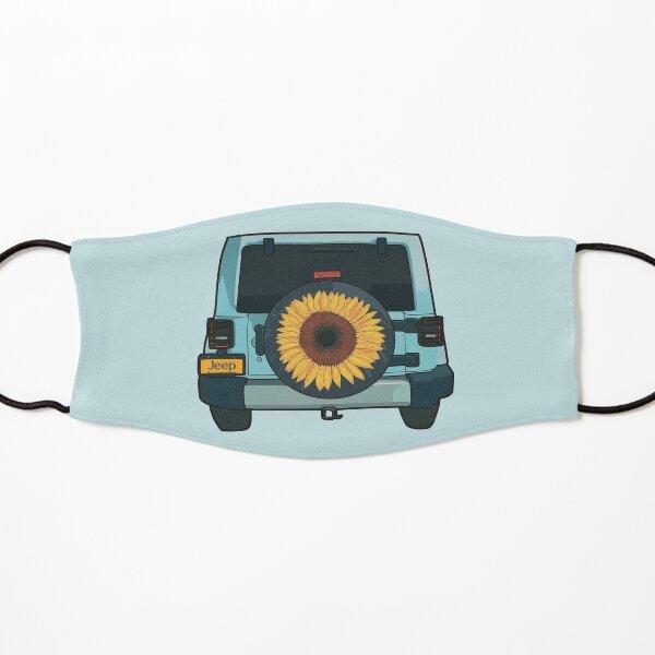 Sunflower blue Jeep llustration Kids Mask