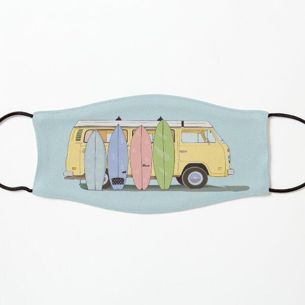 Estética furgoneta amarilla con tablas de surf Mascarilla para niños