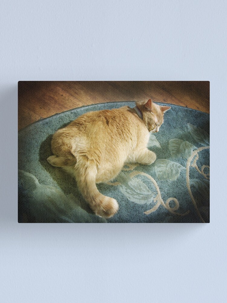 Alternate view of Fat Cat on a Rug Canvas Print