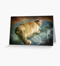 Fat Cat on a Rug Greeting Card