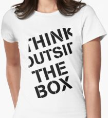 Think Outside The Box Women's Fitted T-Shirt