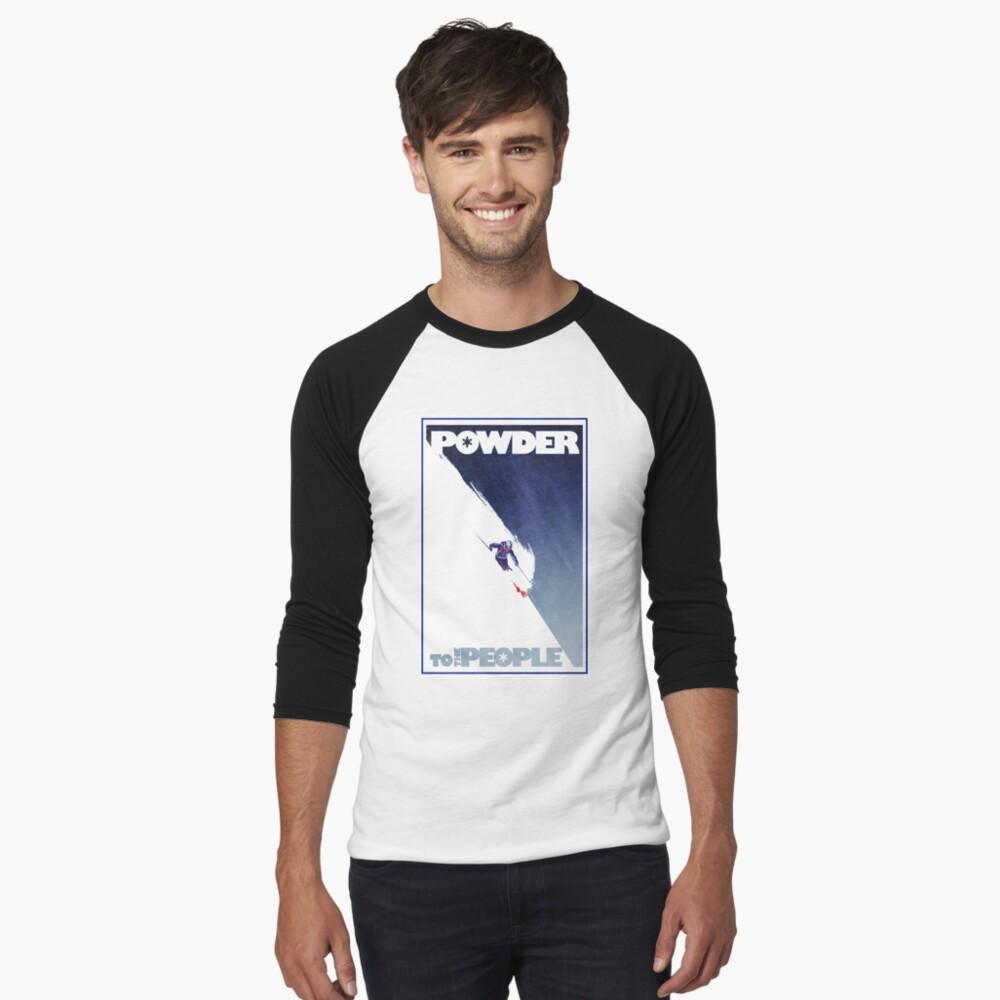 Powder to the People Baseball ¾ Sleeve T-Shirt