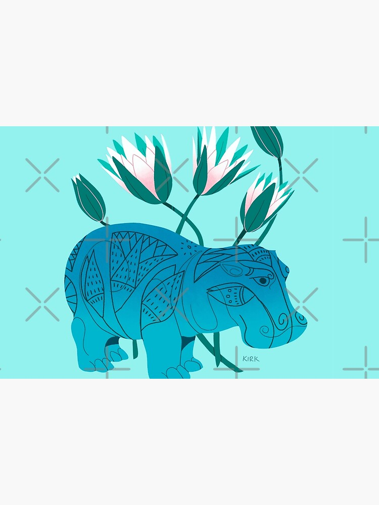 Faience Hippo - Floral Artefacts by flaroh