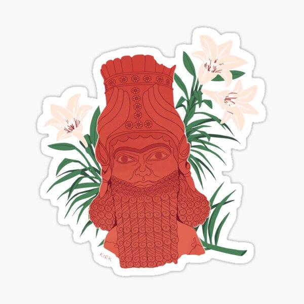 Lamassu - Floral Artefacts Sticker