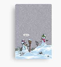 I HATE SNOW Canvas Print