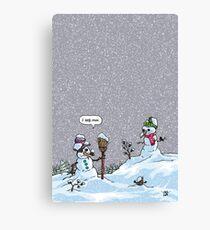 I HATE SNOW Canvas Print