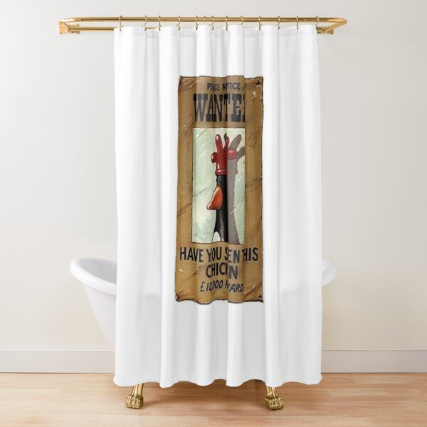 Wallace and gromit penguin  Shower Curtain