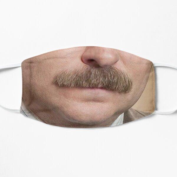 Ron Swanson Face Mask Flat Mask