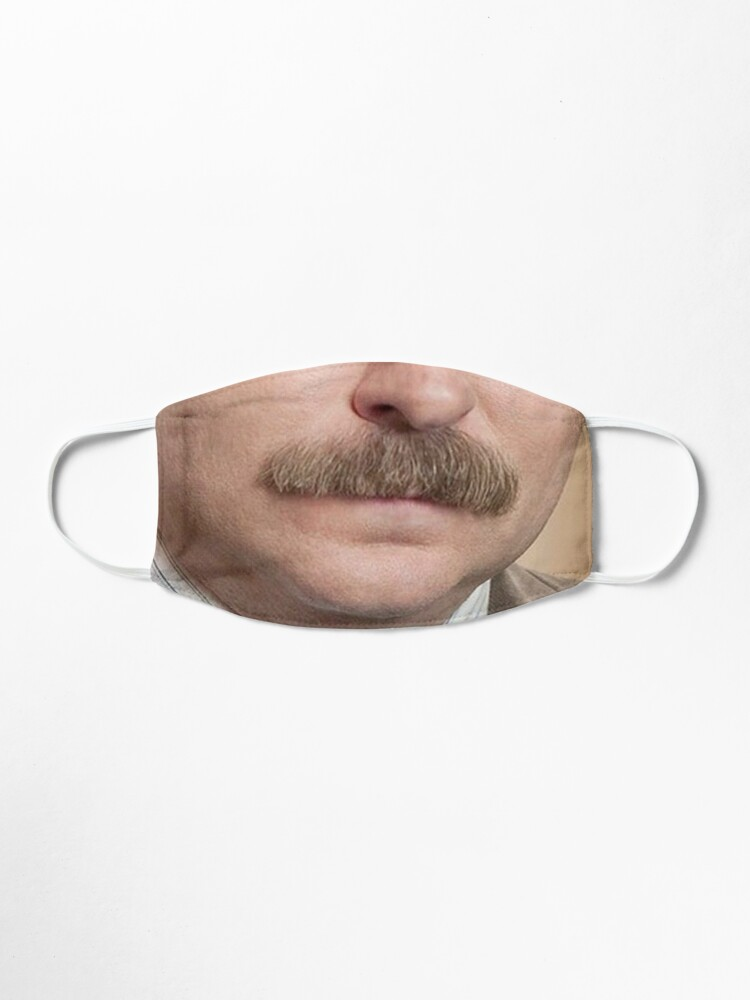 Alternate view of Ron Swanson Face Mask Mask