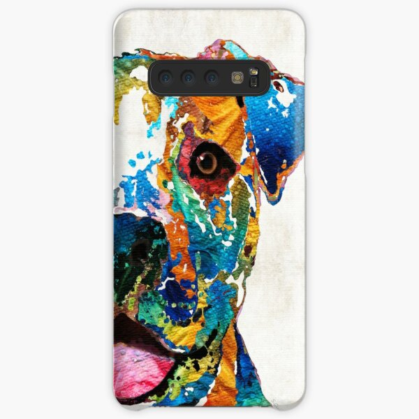 Bunter Hund Pit Bull Art - glücklich - durch Sharon Cummings Samsung Galaxy Leichte Hülle