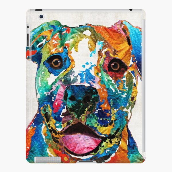 Colorful Dog Pit Bull Art - Happy - By Sharon Cummings iPad Snap Case