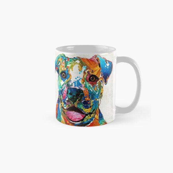 Colorful Dog Pit Bull Art - Happy - By Sharon Cummings Classic Mug