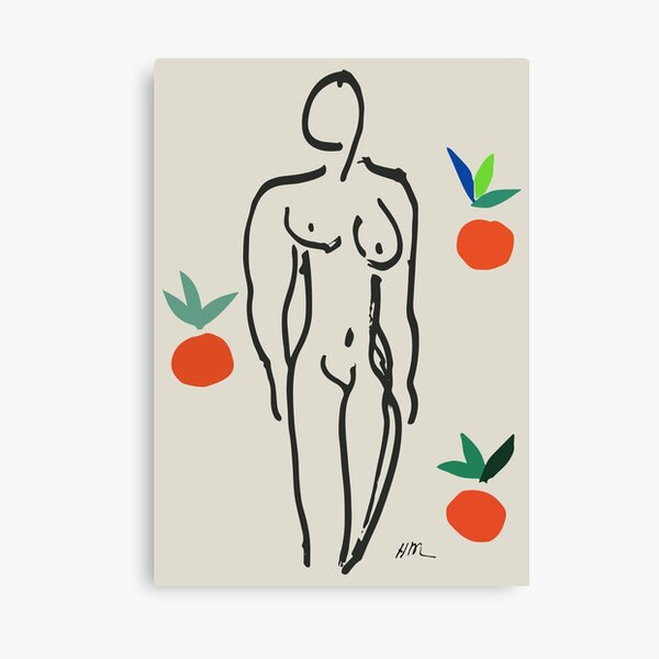Henri Matisse Nude With Oranges 1951 Artwork for Wall Art, Prints, Posters, Tshirts, Men, Women, Youth Canvas Print