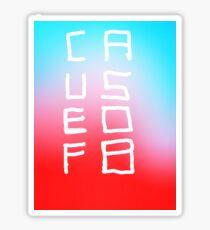 2 Column Causeofb Sticker