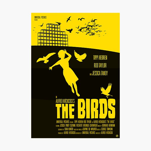 Alfred Hitchcock's The Birds Photographic Print