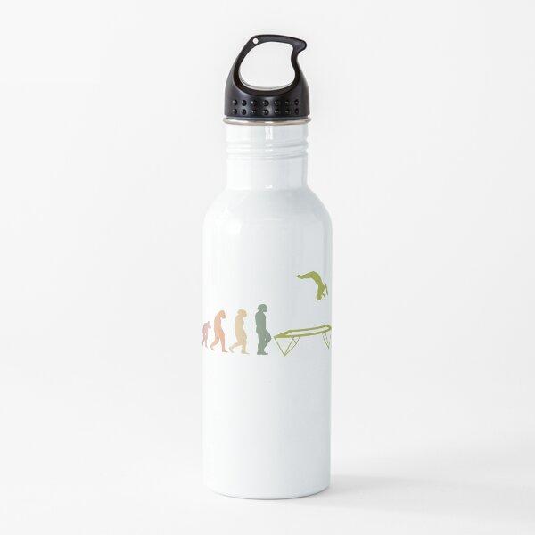 EVOLUCIÓN TRAMPOLIN fitness entrenamiento trampolín hall diversión deporte vintage Botella de agua