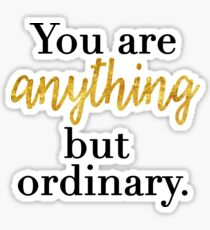 You are Anything But Ordinary Sticker