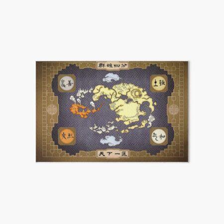 Avatar the Last Airbender Map Art Board Print