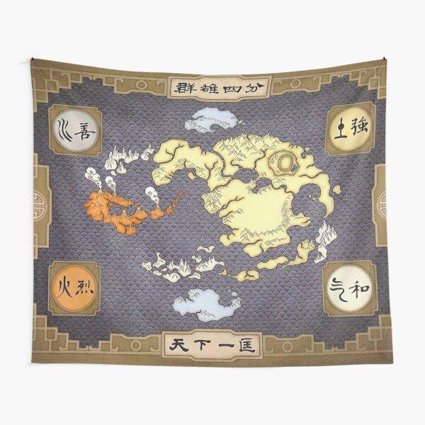 Mapa de Avatar, el último maestro del aire Tela decorativa