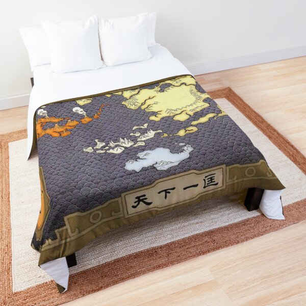 Avatar the Last Airbender Map Comforter