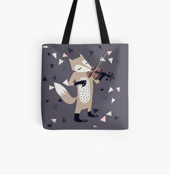 FOXY VIOLINIST All Over Print Tote Bag